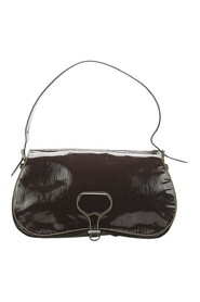 Pre-owned Saffiano Vernice Shoulder Bag Leather Patent