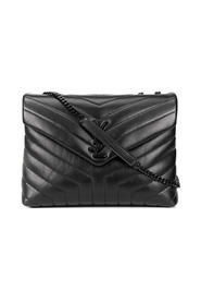 Loulou quilted bag with logo badge