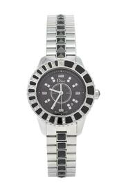 Pre-owned Stainless Steel Diamonds Christal CD113115M00 Wristwatch