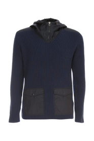 TRICOT OPEN HIGH NECK SWEATER