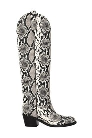 Python printed leather Texan boots