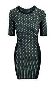 Slim Fit Dress With Print -Pre Owned Condition Very Good