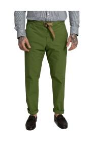 Contrast Belt Straight Leg Trousers