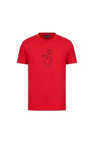 Supima t-shirt med gesttryck