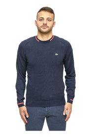 Pullover with contrasting stripes