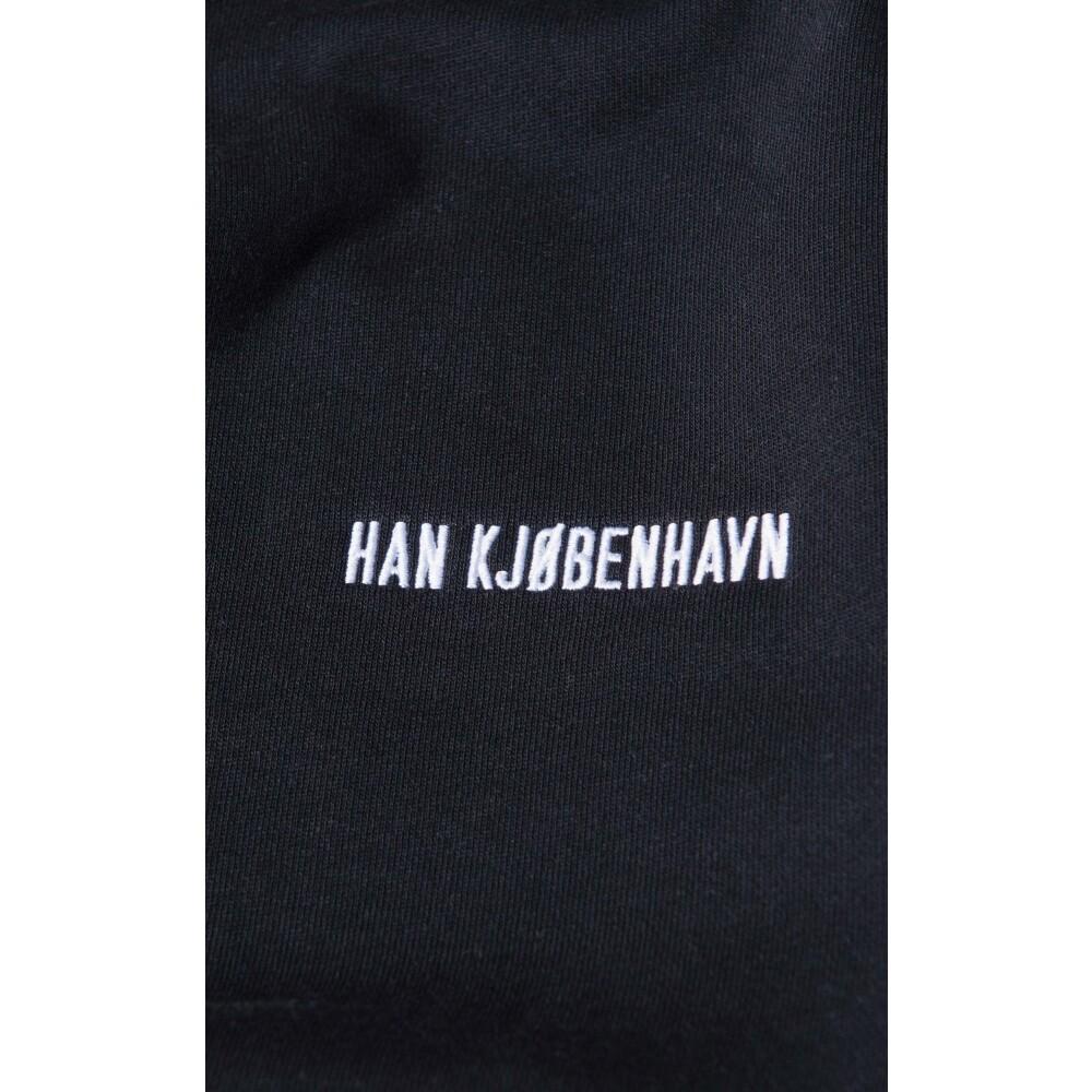 Han Kjøbenhavn Black Logo Casual Crew Han Kjøbenhavn