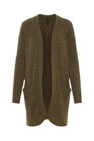 Cardigan Ribbed open-front