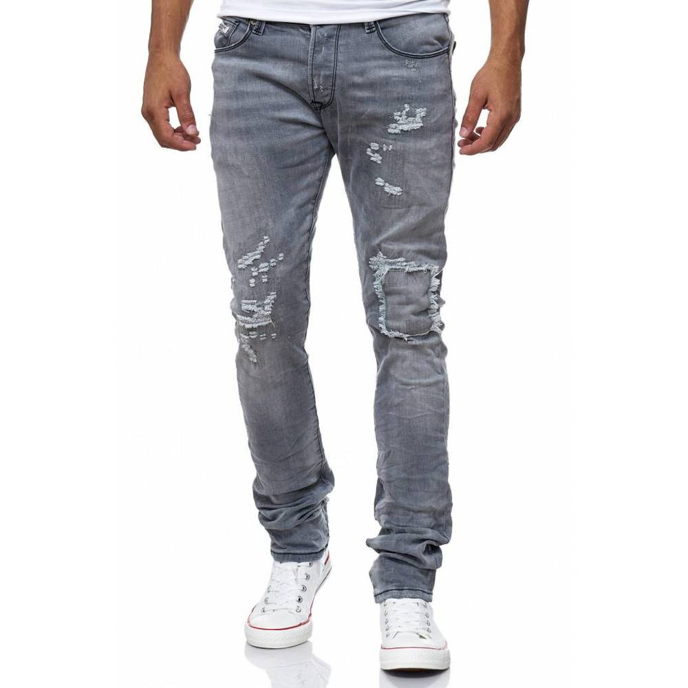 Beskadiget All Over Look Jeans