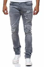 Damaged Allover Look Jeans