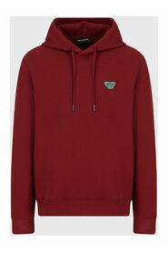 Emoji Recycle hooded, recycled-jersey sweatshirt