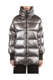 Reversible oversize down jacket