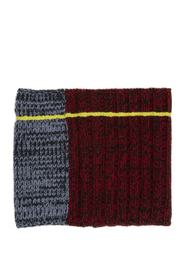 panelled chunky knit snood
