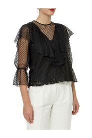 Lace Blouse with Rouches