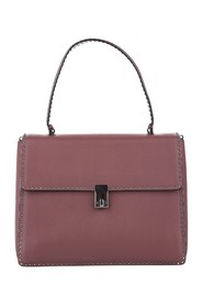 Rockstud Leather Satchel