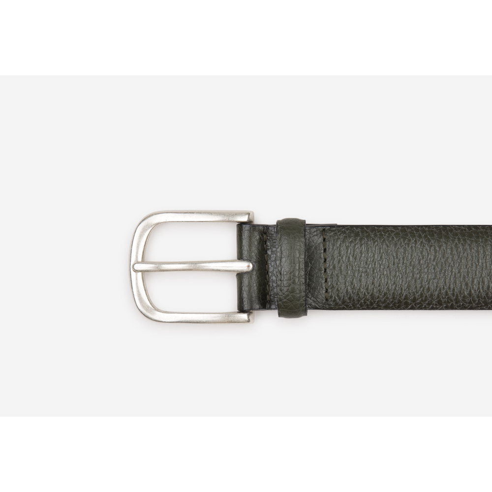 ARMY GREEN Granulated leather belt | Orciani | Riemen | Heren accessoires