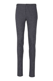Knitted houndstooth trousers