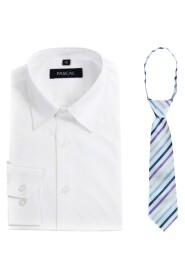 skjorte med fagerikt slips