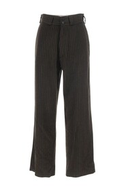 High waist cropped trousers