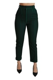 Striped High Waist Trouser Pants