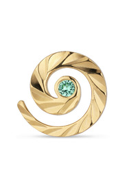 Impression Stud with emerald, gold-plated sterling silver