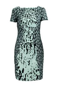 Print Dress With Lace Decoration -Pre Owned Condition Good