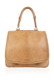Tan Leather Large New Line Flap Tote Shoulder Bag
