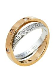 Pre-owned Love Diamond Paved 18K Ring