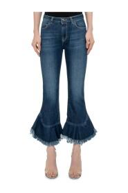 Medium Waist Ruffles Jeans