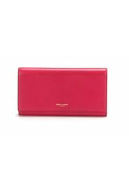 Large Marquage Flap Wallet in  calfskin leather