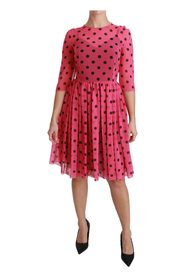 Pricker A-linje knä längd klänning