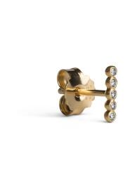 Ball Row Earring with Diamonds