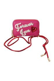 Forever Love Zipper Leather Coin  Wallet
