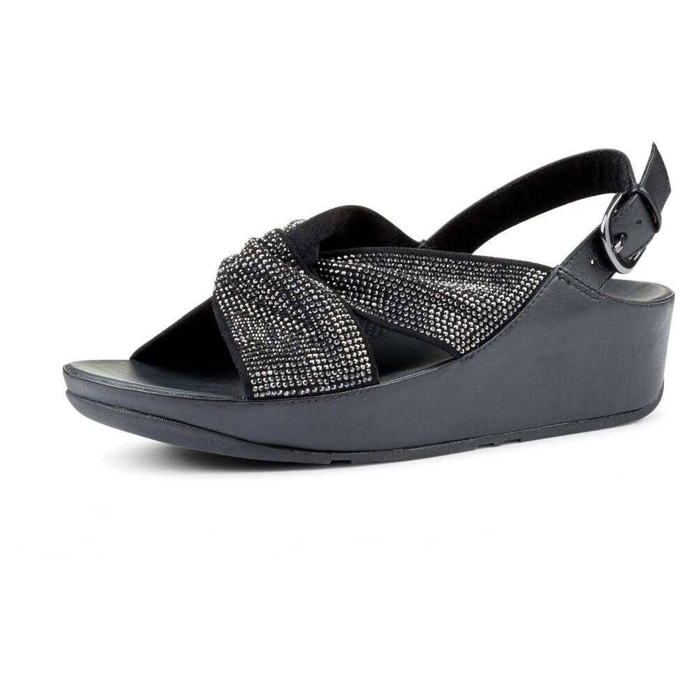 sandal med lav hæl, (Metallic)  Fitflop  Sandaler