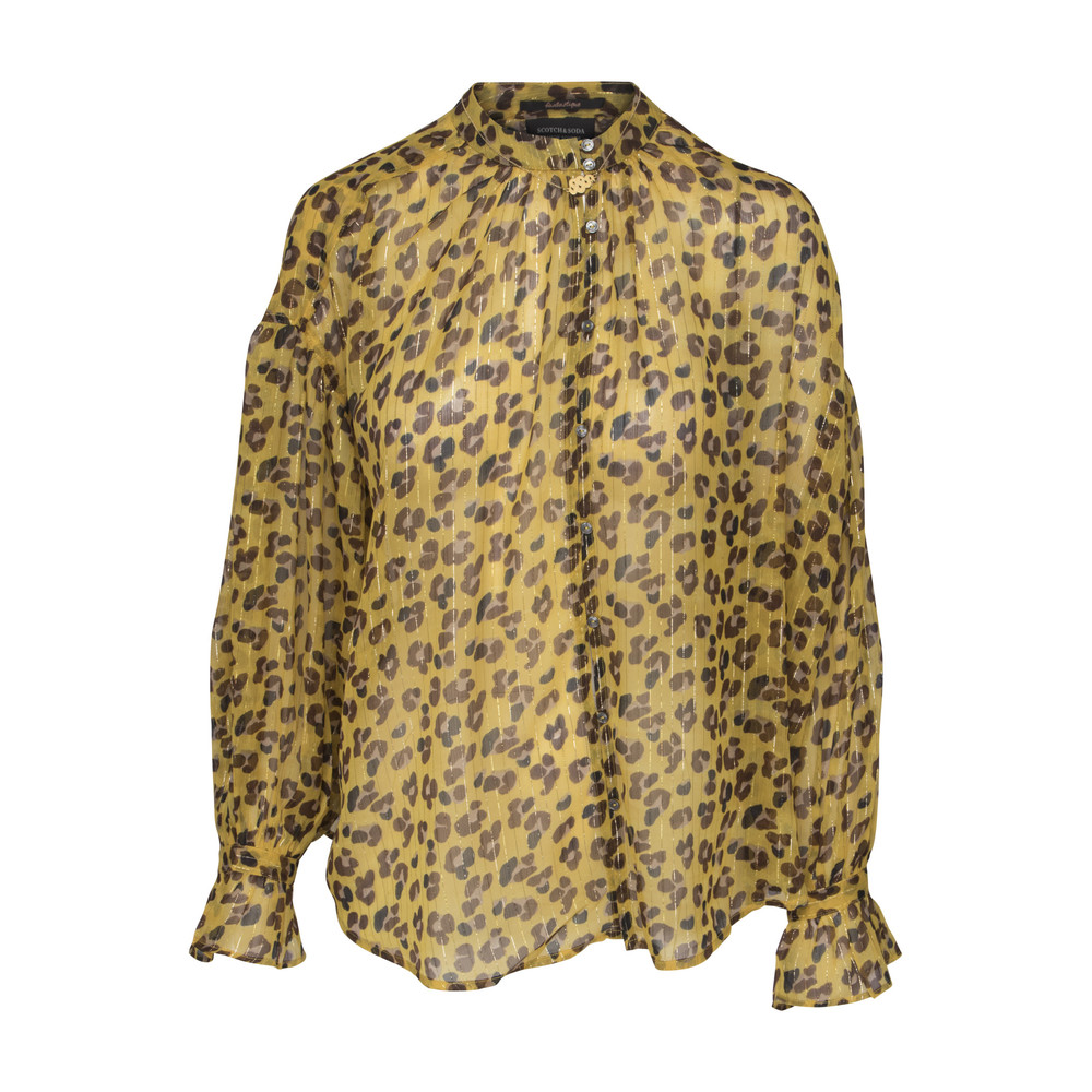 Scotch & Soda Blus leopadmönster - gul
