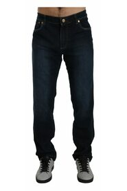 Italian Couture  Washed Straight Stretch Jeans
