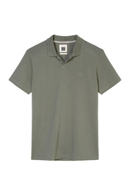 Short-sleeved shaped polo shirt in piqué fabric
