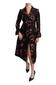 Płaszcz z haftem kwiatowym