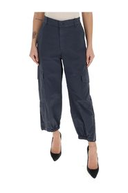 high-rise loose fit trousers
