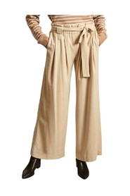 Poyo flared belted trousers