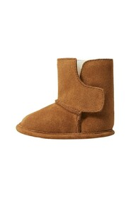 Fur leather ankle boots