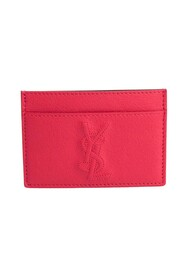 Pre-owned 352908 Leather Card Case