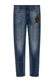 Jeans with worn effects