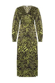 Patterned dress with long sleeves