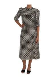 Sequined Sheath Wool Dress