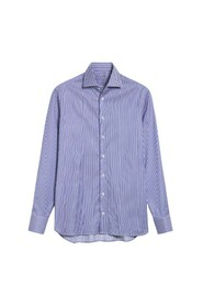CHEMISE PERFECT LOOK À RAYURES MARINES SLIM FIT