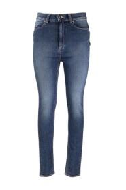 High-waisted skinny pants