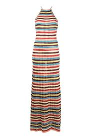 Long Striped Dress in blend