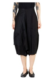 Raw Edge Patchwork Trousers