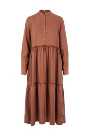 Midi dress Loose-fit lyocell
