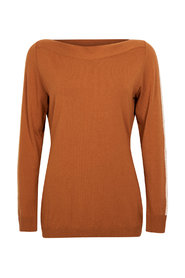 Mees Luxury knitted sweater with piping